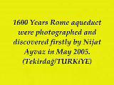 tekirdağ roma su kemer'inin keşfi