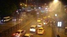 orduspor maçtan sonra ankara caddeleri taraftar show avı