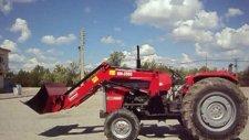 traktör kepçe massey fergusson 265lik portatif ön yükleyici kepçe