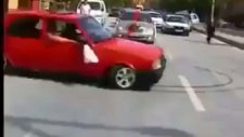 gelin arabasının önü işte böyle kesilir