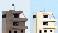 suriye askeri türk bayrağını indirdi