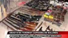 amasyada terorıst cephanelıgı bulundu