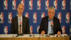 david stern and adam silver press conference about lockout