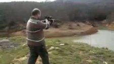 Av Tüfekleri  Dürbünlü Av Tüfeğiyle Deneme Atışları