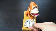 Para Biriktiren Mekanik Maymun Kumbara - Choen Bako Robotic Monkey Bank