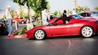 Tesla Roadster And Ferrari 550 Maranello