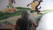 çocuk yuvalarına duvar resimleri yapanlar
