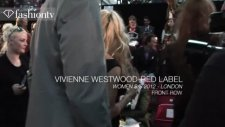 vivienne westwood front row ft pamela anderson - london fashion week spring 2012  fashiontv - ftv