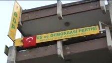 nazilli bdp binası basıldı ve türk bayraği asildi