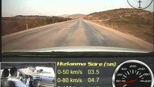 kia cerato koup 16 lt 126 hp test 0-100 kms-100-0 kms