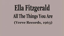 ella fitzgerald - all the things you are