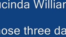 lucinda williams those three days