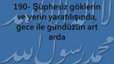 Ali İmran Suresi ( 189 ile  194 Arası Ayetler )