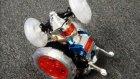 Uzaktan kumandali rc işikli çilgin robot araba yeni ürun