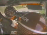 cars - mitsubishi lancer evo rally car crash