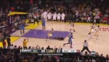 Metta World Peace decks James Harden with elbow Oklahoma City Thunder at Los Angeles Lakers