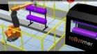 Abb ırb 5400 robot conveyor trackıng flamıng alevleme konveyör robot