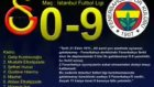 Fenerbahce  9 Galatasaray  0