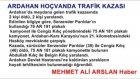 Ardahanda son dakika Haberler - trafik kazası 2 ölü var- MEHMET ALİ ARSLAN Haber
