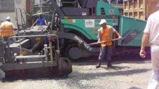 Corlu da asfaltlama çalısmaları
