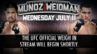 ufc munoz vs weıdman weigh ın lıve