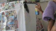 Buzdolabı Boyama Sanatı Dövme Salonu