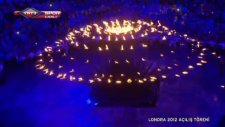 2012 Londra Olimpiyatları Meşalesi Yakıldı