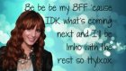 Bella Thorne Ttylxox Lyrics On Screen
