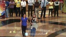 flash mob with farah khan  boman ırani