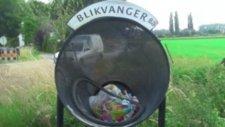 Bisikletliler için çöp kutusu