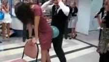 Rus Düğününde çılgın balon patlatmaca
