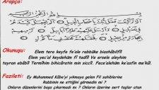 Fil Süresi Fazileti -  Türkçe Arapça Meali