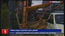 Bursa'da Asansör Yere Çakıldı