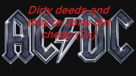AC/DC - Dirty Deeds Done Dirt Cheap With