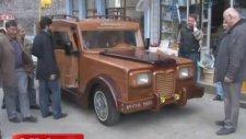 Karadenizli ahşaptan Laz Rover yaptı