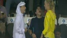 Efsane Maradona'nın Wozniacki heyecanı