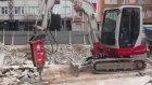 Takeuchi Mini Ekskavatör Tb235 Bina Yıkımı Çalışması