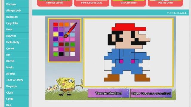 Mario Boyama Oyunları Izlesenecom