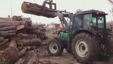 Tomruk Yükleyici Traktör KEPÇE