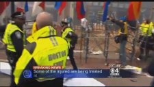 Boston Maratonu'nda Bomba!   İşte Patlama Anı