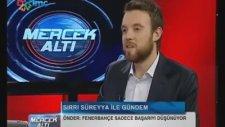 BDP'li Sırrı Süreyya Önder: Fenerbahçe Taraftarı Başarıya Tapıyor