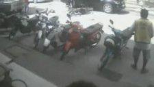 Motosiklet sürücüsünün feci ölümü