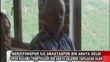 Amasyaspor Ve Merzifonspor Yöneticileri bir araya geldi.