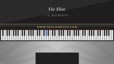 Müzik Dersi : Ludwig Van Beethoven Für Elise Easy Piano Tutorial