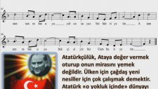 Ders İstiklal Güneş Gibi Atam Sen Rahat Uyu Marş Sözü Flüt Notası Altyapısı