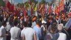 Taksim Meydanı'nda Abdullah Öcalan ve Pkk Bayrağı Gerginliği