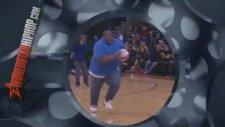 Basket şov yapmaya çalışan şişman adam