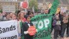 Londrada G8 Protestoları Sürüyor