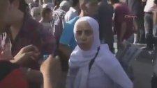 Taksim Bikini Eylemi Başörtülü Teyzenin Öfkesi !