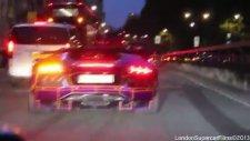 Lamborghini Sokaklarda Alev Atıyor